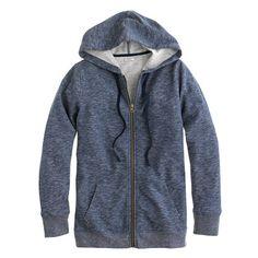 J.Crew - Heathered fleece zip-up hoodie