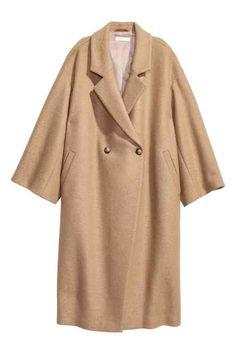 Manteau oversize en laine