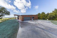 Cedar entry with garage