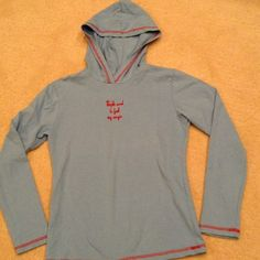 """NWOT Girls Long Sleeved Hoodie Cute sky blue long sleeved hoodie with red embroidery """"People want to feel my magic"""". High quality material. 95% cotton 5% Lycra. Simply She Shirts & Tops Sweatshirts & Hoodies"""
