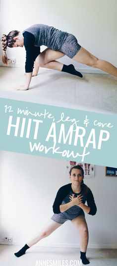 A HIIT Bodyweight AMRAP workout that targets your legs + core. At home workout arms | at home workout