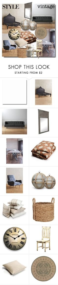 """Modern Vintage"" by sue-mes ❤ liked on Polyvore featuring interior, interiors, interior design, home, home decor, interior decorating, Anthropologie, CB2, canvas and Libeco Home"
