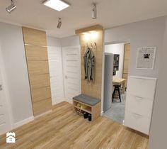 Aranżacje wnętrz - Hol / Przedpokój: mieszkanie w bloku z wielkiej płyty - Hol / przedpokój, styl nowoczesny - JMJ Interiors. Przeglądaj, dodawaj i zapisuj najlepsze zdjęcia, pomysły i inspiracje designerskie. W bazie mamy już prawie milion fotografii!