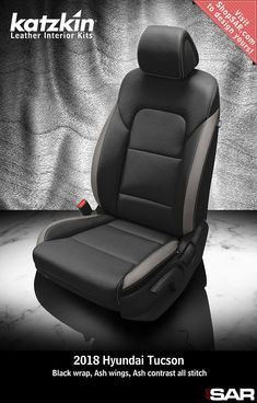 - This is a 2018 Hyundai Tucson seat with Black wrap, Ash wings, Ash contrast all stitch. Car Interior Upholstery, Automotive Upholstery, Tucson, Leather Seat Covers, Car Seat Cover Sets, Fj Cruiser, Brio, Custom Leather, Leather Interior