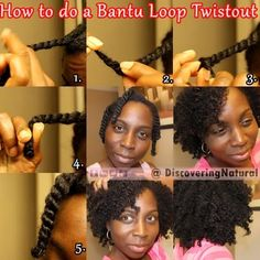 How to do a Bantu Loop Twist on Natural Hair #naturalhair #twistout