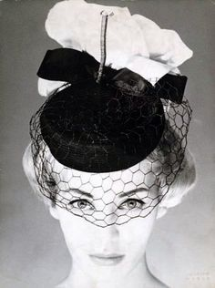 Model is wearing hat by Jean Barthet, photo by Harry Meerson, 1950. Vintage fashion