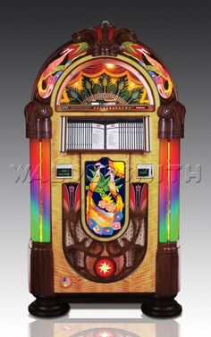 We offer a large collection of retro jukeboxes along with other specialty jukeboxes such as our Harley Davidson and Jack Daniels jukeboxes. Check out our jukeboxes today! Jukebox, 1950 Diner, Retro Diner, Retro Bar Stools, Sims, Metal Edging, Vintage Gas Pumps, Vintage Stool, Soda Fountain
