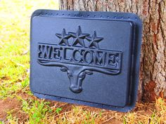 Stepping Stone Mold Texas Longhorn Welcome Sign by KAPCREATIONS