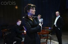 Eve Best as Hedda Tesman, Benedict Cumberbatch as George Tesman, Lisa Dillon as Thea Elvsted and Iain Glen as Judge Brack in Henrik Ibsen's Hedda Gabler directed by Richard Eyre at the Almeida Theatre in London. Eve Best, Hedda Gabler, Iain Glen, Nurse Jackie, He Is Coming, London Theatre, Rich Image, My Tom, Music Licensing