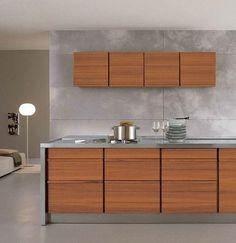Design linear custom solid #wood #kitchen ONLY-ONE by @Riva Pollard Pollard Industria Mobili  | #design Terry Dwan