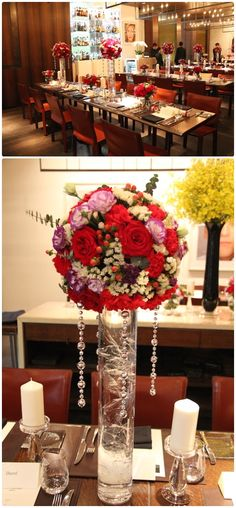 Wedding Table Flower Centerpieces Dinner Lucky Red | visit www.lovelyweddingideas.com