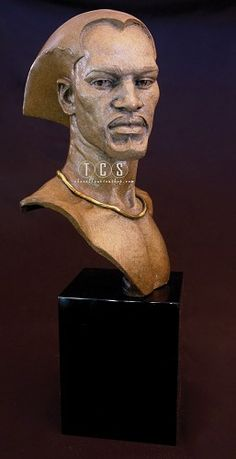 """Thomas Blackshear Legends Remembering #ThomasBlackshearLegends #Art. """"Remembering"""" portrays a man full of nobility, strength, honor and compassion. This is one in an upcoming series of sculptures that will explore the relationships and dynamics of the family structure. Thomas' artwork transcends all cultural and racial boundaries."""