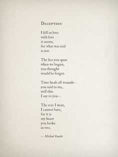 Deception~ Michael Faudet