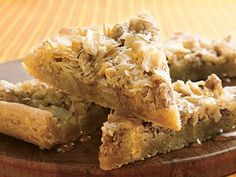 Low carb baklava bars Prize-Winning Recipe 2007! Love classic Baklava? Fall in love with an easy way to get the same Greek signature flavors using cookie mix and crushed fillo shells.