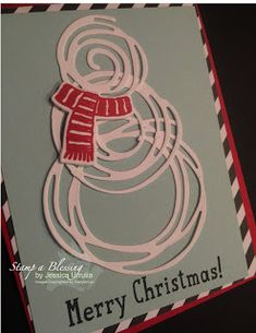 Stamp a Blessing: Stampin'Up! Swirly Bird Snowman