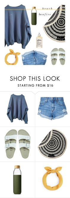 """b o n f i r e"" by claireelizabetth ❤ liked on Polyvore featuring Nobody Denim, Birkenstock, The Beach People, Soma and Maison Margiela"