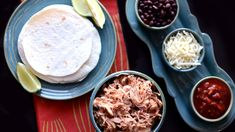 Chicken Salsa Tacos - Slow Cooker Recipe perfect for the Big Game this Sunday!