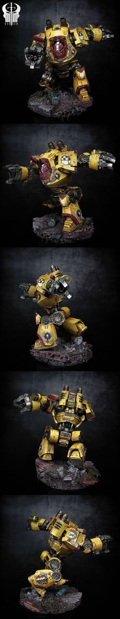 Imperial Fist Contemptor Dreadnought - this is why I love the Contemptor over normal dreads: posability