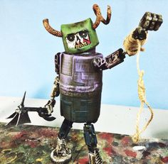 assemblage robot lich the executioner by Valerobots on Etsy