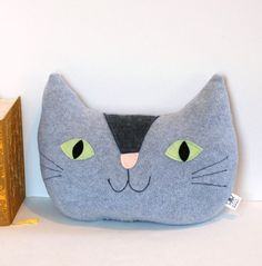 Giant Cat Pillow Nursery Decor Kids Room by FriendsOfSocktopus