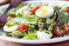 Our vegetarian Protein Cobb Salad with Quinoa bursts with ultra-nutritious vitamin-packed colors and flavors.