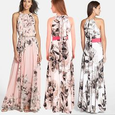 2015 Summer Women Fashion Maxi Dress Lady Sleeveless Floral Print Dresses Sexy Elegant Party Long Dress from Tfdmarket,$11.52 | DHgate.com