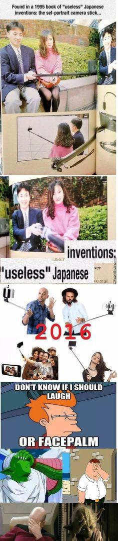 Selfie Stick Useless Since:1995