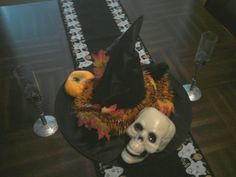 Halloween Center Piece made from dollar store items.  I'm pretty proud of myself right now