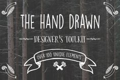Do you love logos? Hand drawn invitations and posters? Now you can create your very own unique designs with this awesome pack!
