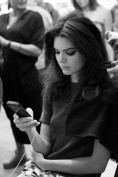 Kendall Jenner - Backstage at Diane Von Furstenberg, Spring 2015