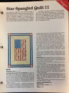 star spangled quilt pattern with uncut plastic template ebay star spangled vintage sewing patterns