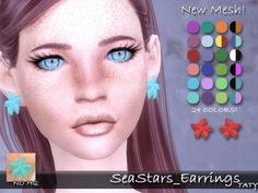 Simsworkshop: Sea Stars Earrings by Taty • Sims 4 Downloads