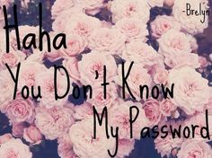 Haha You Don't Know My Password Cx