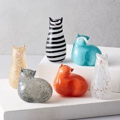 St. Jude Glass Cat Objects | west elm