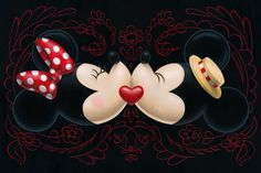 Mickey & Minnie Mouse.