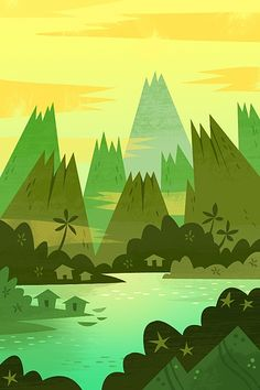 Volcano Bay wallpaper by Gorillustrator on Poolga