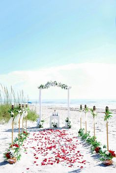 Beautiful Beach Wedding Decorations - a wedding in Cocoa Beach, Florida www.RomanticFloridaBeachWeddings.com