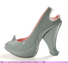 crazy shoes - sharks - Water Hazard -- I would never wear them, but so clever!