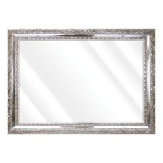 Unbranded Large Rectangle Shiny Silver Beveled Glass Art Deco Mirror (42 in. H x 30 in. W)-16775-36-58S - The Home Depot Contemporary Wall Mirrors, Art Deco Mirror, Beveled Glass, Oversized Mirror, Glass Art, Living Spaces, Frame, Silver, Beautiful