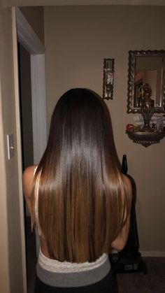 Straight Wigs Lace Frontal Hair Brazilian Straight Hair Bundles For Bl – wcwigs Brown Hair Balayage, Brown Blonde Hair, Hair Color Balayage, Hair Highlights, Straight Brunette Hair, Long Brunette, Wedding Hair Brunette, Frontal Hairstyles, Gorgeous Hair