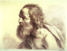 Bust of an Old Man Facing Left, after Guercino