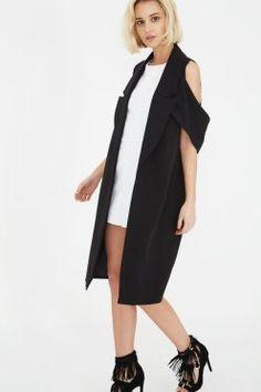 Black Open Sleeve Duster Coat Lavish Alice, Duster Coat, Cape Coat, Coats  For fc63b8262aa3