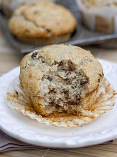 """These """"Bakery Style"""" Cinnamon Chocolate Chip Muffins live up to their name - they're huge in size and flavor*****ICB♥"""