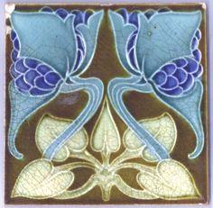 Decorative Ceramic tile X inches, Illustration Vintage art nouveau Antique Tiles, Vintage Tile, Antique Art, Vintage Art, Motifs Art Nouveau, Azulejos Art Nouveau, Art Nouveau Tiles, Art Nouveau Design, Architecture Art Nouveau