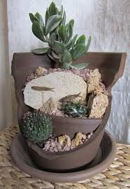 Resultado de imagem para recycle broken clay flower pots