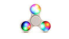 LED White Fidget Spinner | GalaxySpinner.com