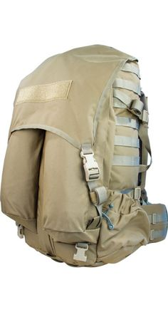 NIEC OVERLOAD ALPHA BVS - Designed with a hidden load-bearing sling between the bag and the frame, this specialty pack can carry mortar systems and ammo while efficiently transferring the load to the user's back and features a removable Bolstered Ventilation and Stability (BVS) system