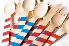 Festett fa party evőeszköz Dekorella Shop http://dekorellashop.hu