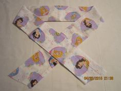 """Extra Wide 3"""" Reusable Non-Toxic Cool Wrap / Neck Cooler  - Kids Prints - Girls - Disney Princess Hearts White by ShawnasSpecialties on Etsy"""