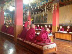Leslokaal monniken. - Vrijwilligerswerk Nepal